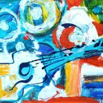 Bright guitar by Peter Rowe