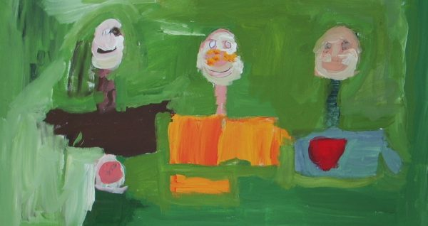 State of Being, painting by Peter Rowe. This was the first of two paintings done during the 'Onsite' program.